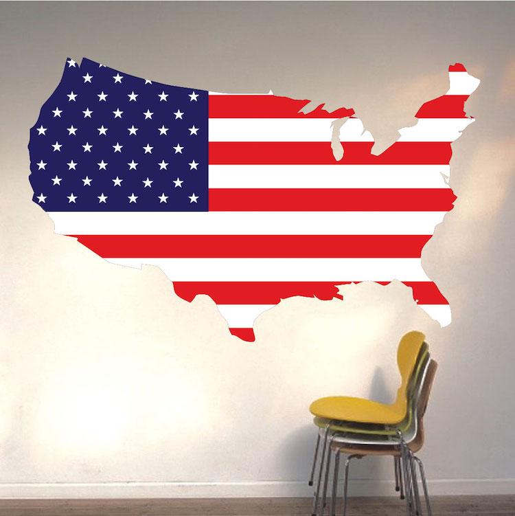 American Flag Wall Mural Decal Flag Wall Decal Murals