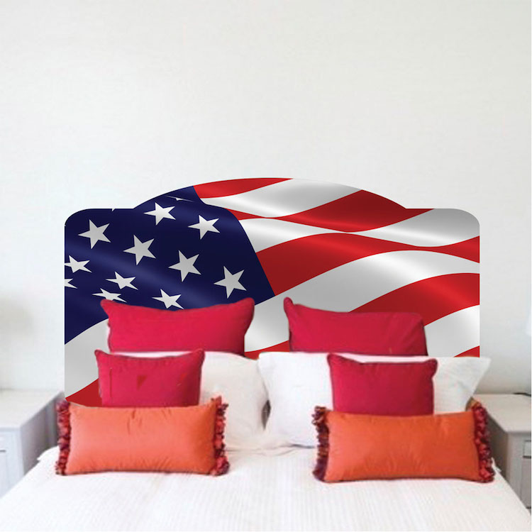 American flag headboard mural decal headboard wall decal for American flag wall mural