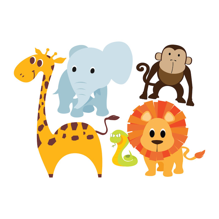 nursery zoo wall decal animal wall decal murals animal wall murals
