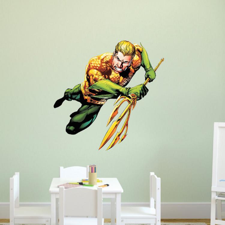 aqua man superhero wall graphic decal aquaman wall decal