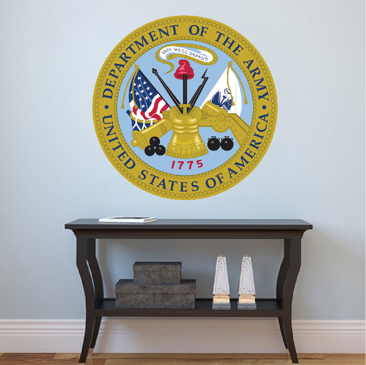 U s army seal wall mural decal america wall decal for Army wallpaper mural