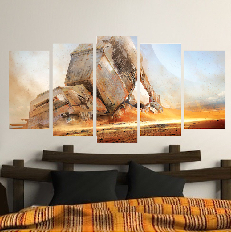 Unique Wall Panel Decal Vinyl Mural Wallpaper Self