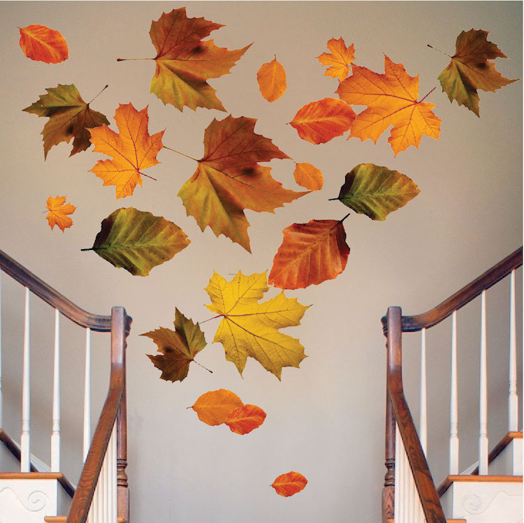 Autumn leaves wall mural decal seasonal wall decal for Autumn wall mural