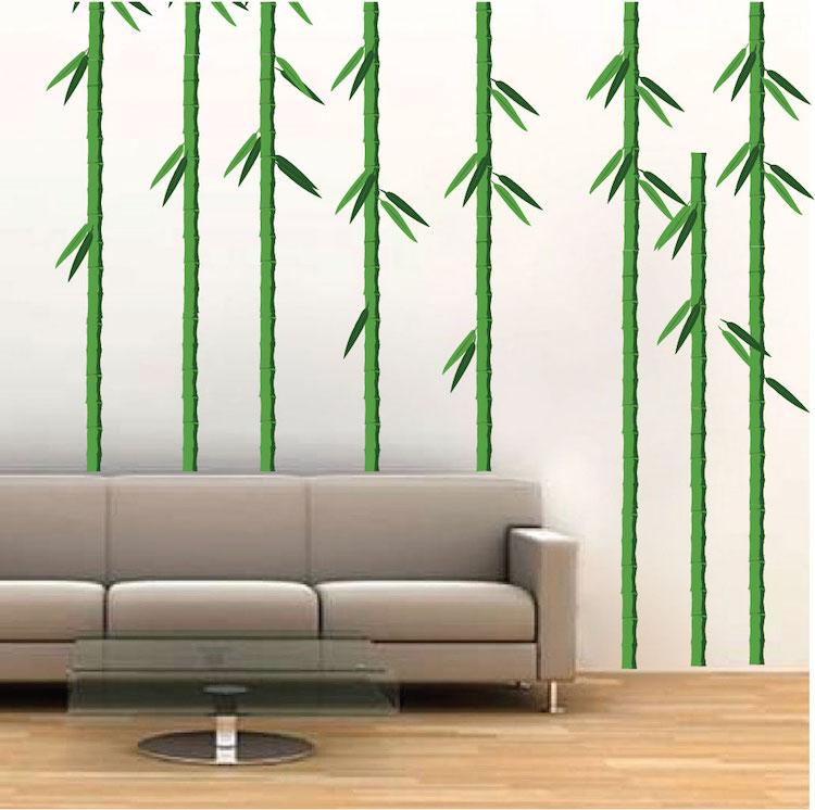 bamboo trees mural decal nursery wall decal murals