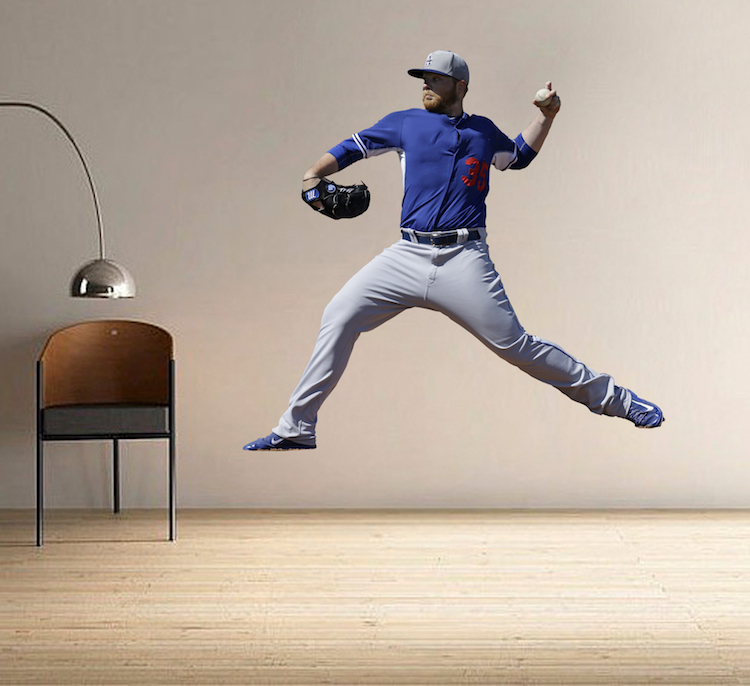 Baseball player wall mural decal sports wall decal for Baseball mural wallpaper