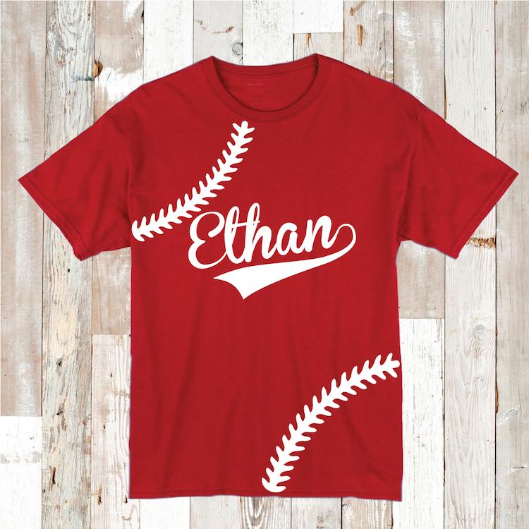 Personalized Baseball Stitch Shirt Birthday Baseball