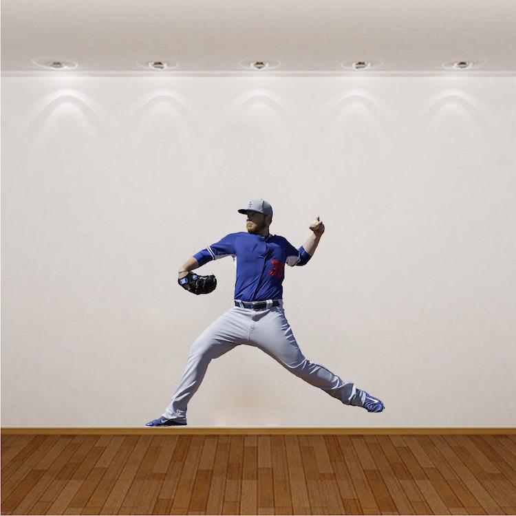 Baseball player wall mural decal sports wall decal for Baseball wall mural