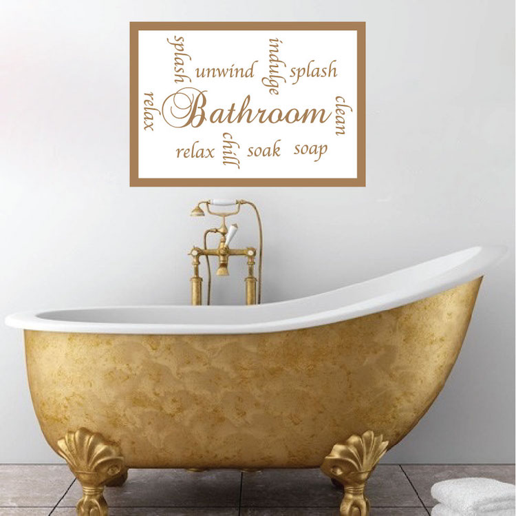 Bathroom Sayings Wall Mural Decal. Bathroom Sayings Decal   Bathroom Wall Decal Murals   Primedecals