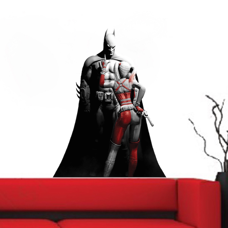 Cool batman bedroom wall sticker batman wall decal for Batman wall mural decal