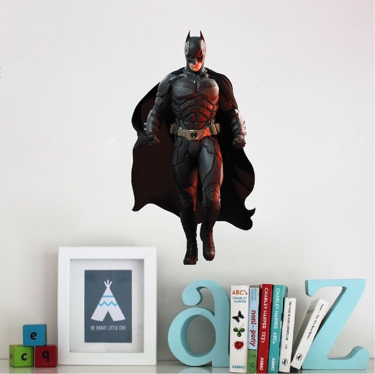 Batman wall decal superhero wall design the dark for Batman wall mural decal