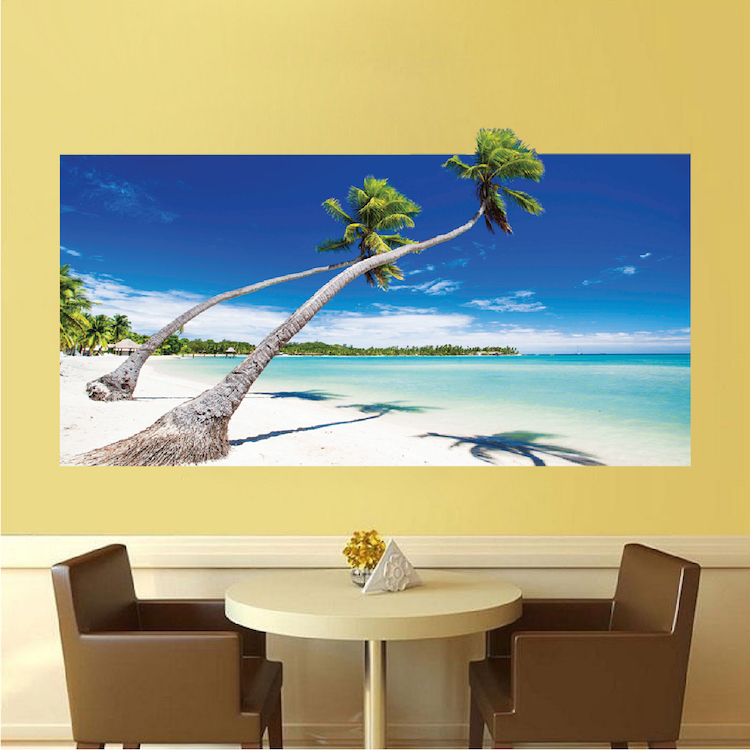 Beach Wallpaper Self Adhesive Vinyl Decal Mural - Ocean Wall Decal ...