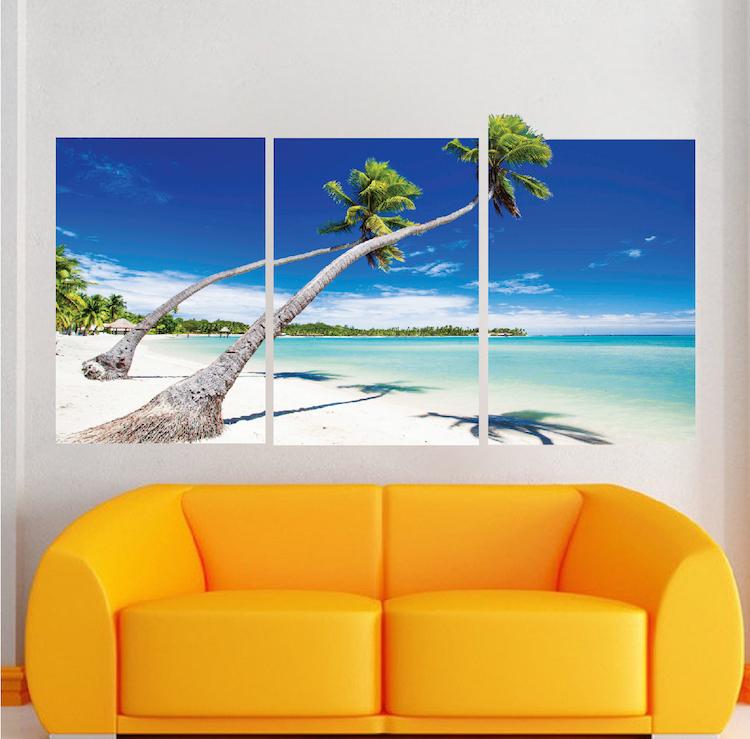 Beach wallpaper self adhesive vinyl decal mural ocean for Beach wall mural sticker