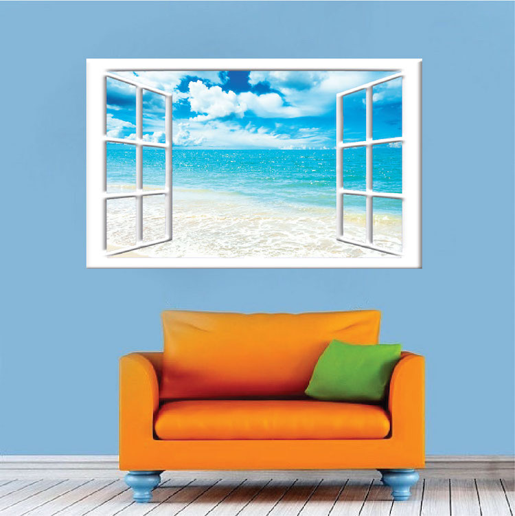 Ocean Wall Mural ocean view mural decal - view wall decal murals - primedecals