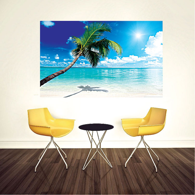 Beach mural decal view wall decal murals primedecals for Beach wall mural sticker