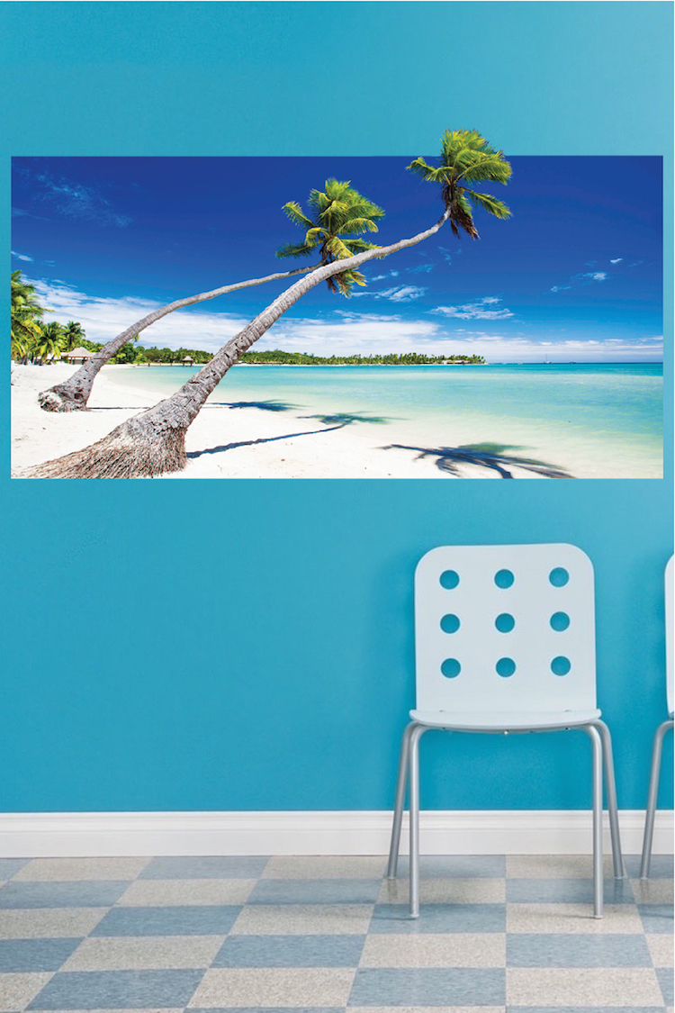 Beach wallpaper self adhesive vinyl decal mural ocean for Beach mural for wall