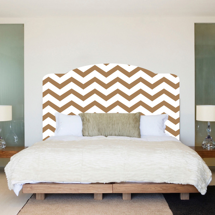 Chevron Headboard Mural Decal Headboard Wall Decal