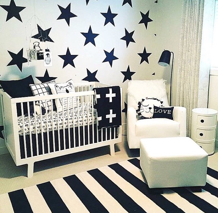 Bedroom Stars Decal - Space Wall Decal Murals - Nursery Star Wall