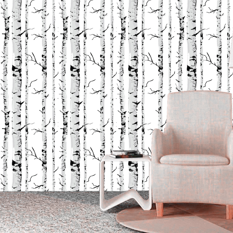 birch tree self adhesive removable wallpaper birch tree trunk wallpaper decal murals tree wallpaper wall art primedecals