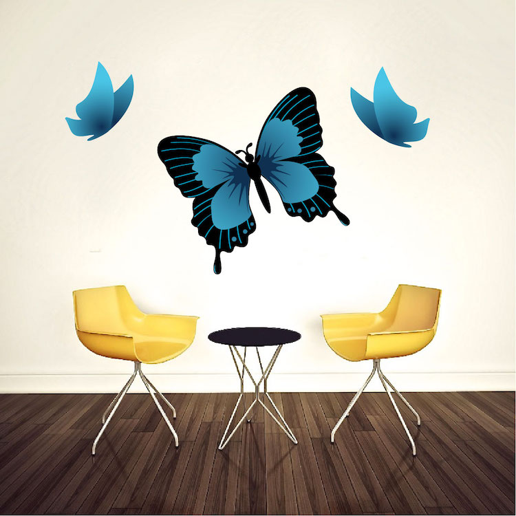 Butterfly wall decal animal wall decal murals primedecals for Butterfly wall mural stickers