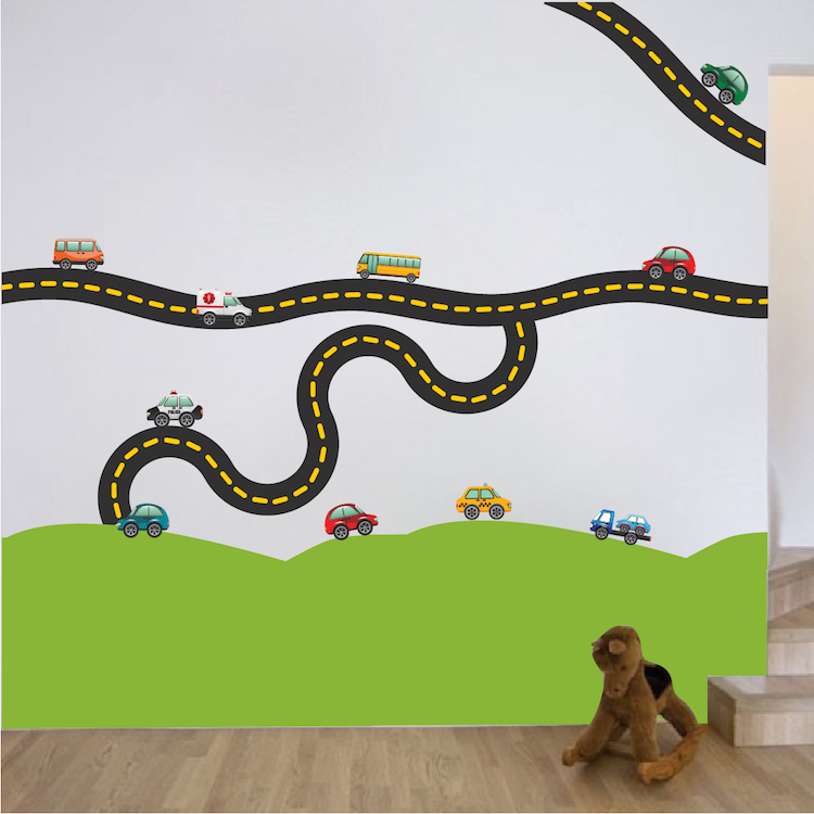 Race Car Decal   Sports Wall Decal Murals   Race Track Wall Stickers |  Primedecals Part 44