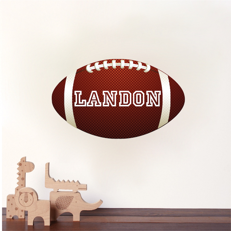 Football Wallpaper With Custom Name - Large Football Wall Graphic ...