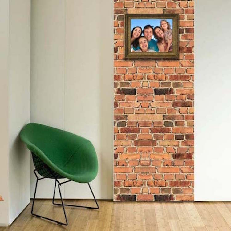 Brick wall mural decal texture wall decal murals for Brick wall mural