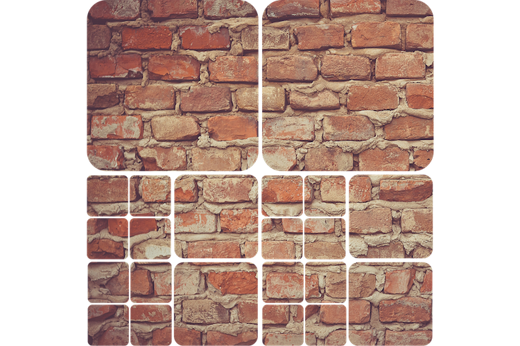 Brick Squares Wall Mural Decal Part 50