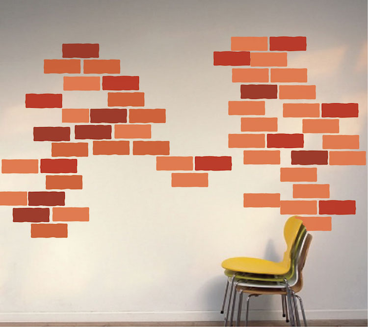 Brick wall decal construction wall decal murals for Brick wall decal mural