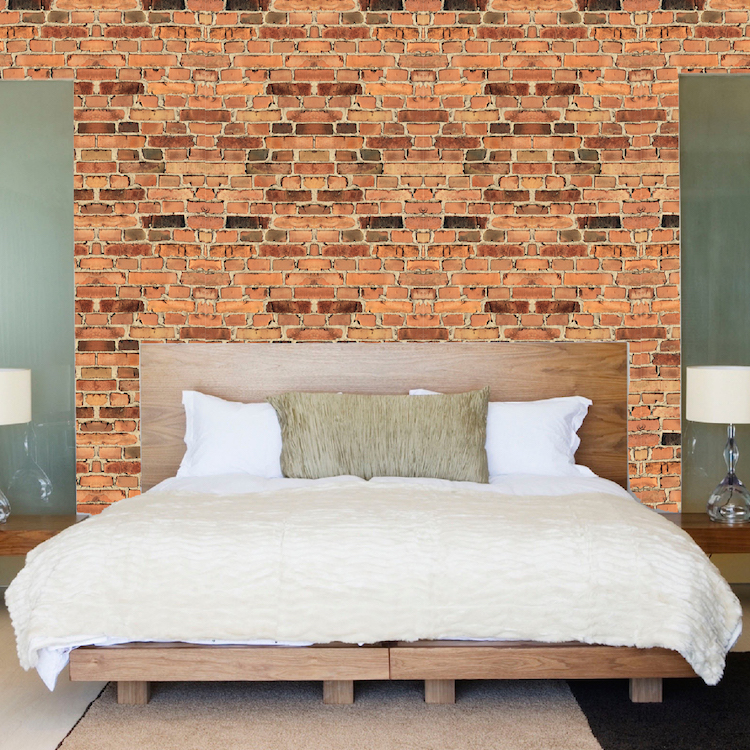 Brick wall mural decal texture wall decal murals for Brick wall decal mural