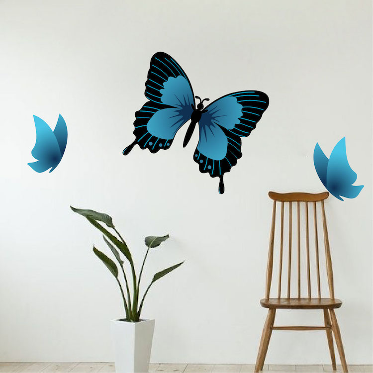 Butterfly wall decal animal wall decal murals primedecals for Butterfly wall mural