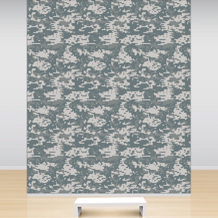 Digital camouflage wallpaper decal self adhesive army for Camouflage wall mural