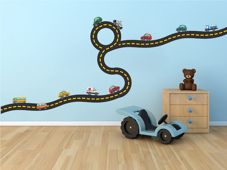 Exceptionnel Cars And Race Track Wall Decals