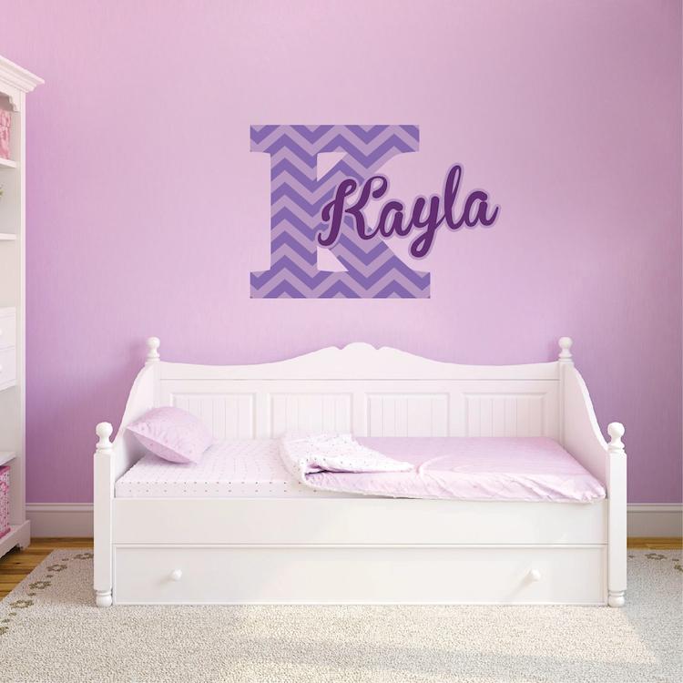 Nursery And Kids Custom Name Initial Bedroom Decal Sticker