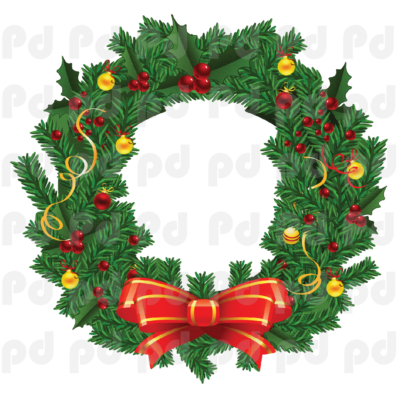 Christmas wreath wall decal mural christmas wreath wall for Christmas window mural