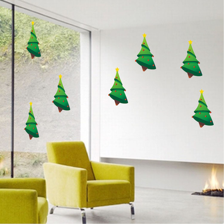Home U003e Shop Wall Decals U003e All Decals U003e Christmas Tree Decal Decorations Part 91
