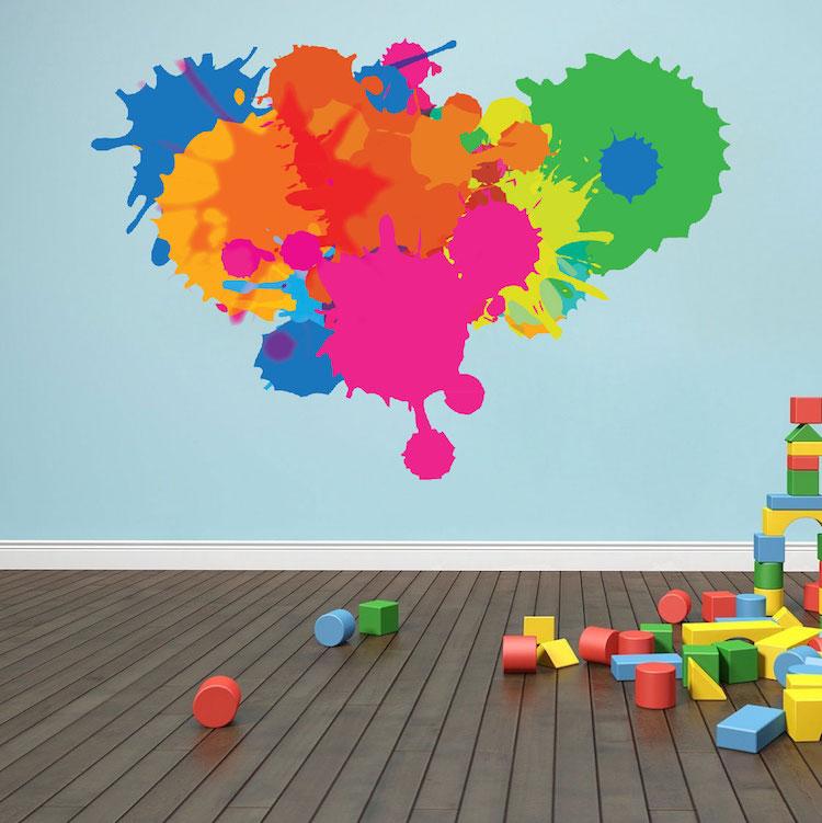Splash Colorful Room Wall: Color Splash Wall Decal