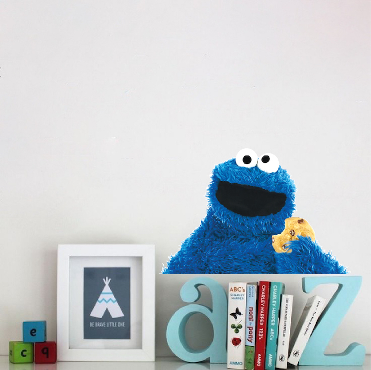 Quick View  sc 1 st  Prime Decals & Cookie Monster Wall Decal Mural - Cookie Monster Sesame Street Wall ...
