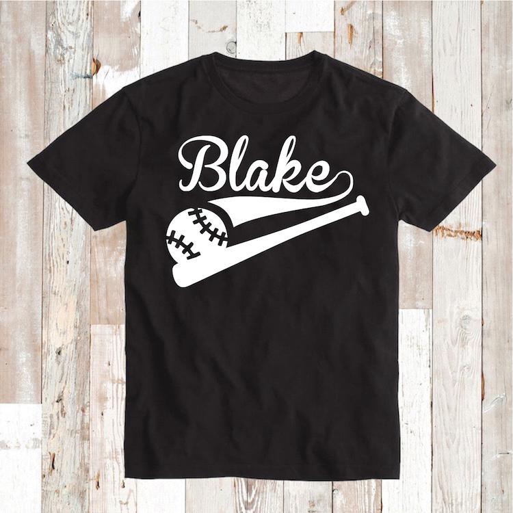 Custom Baseball Tee With Bat Sports T Shirts Birthday