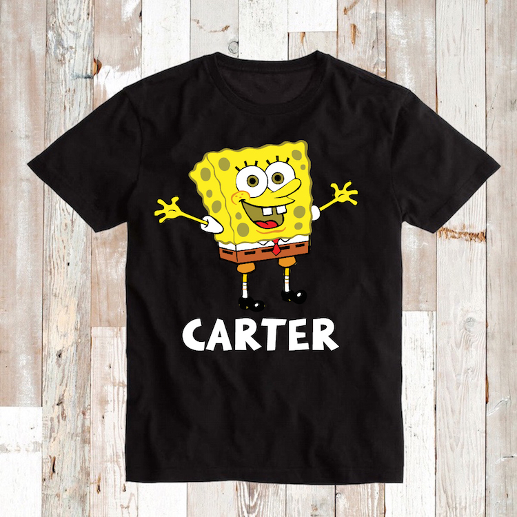 Spongebob T Shirts Onesies Or Bibs Custom Spongebob
