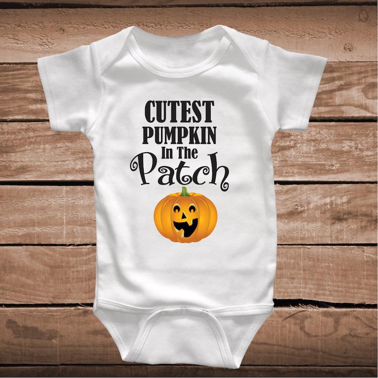 Cutest Pumpkin In The Patch Onesie Or Tee Halloween