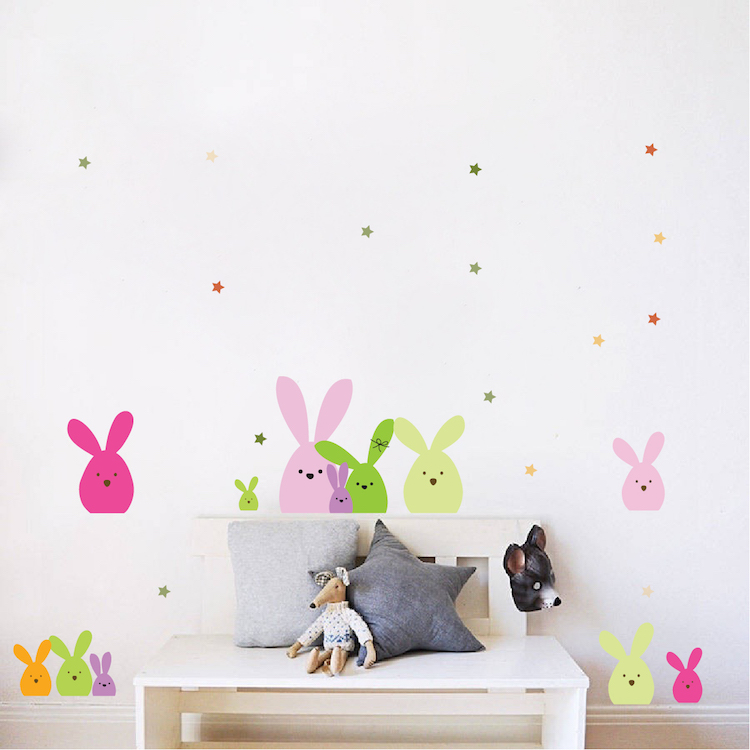 Easter Bunny Wall And Window Stickers - Easter Party Decoration