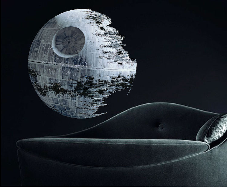 Star wars death star walls pictures to pin on pinterest for Death star wall mural