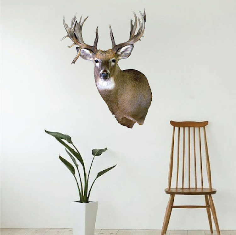 deer head wall mural decal animal wall decal murals