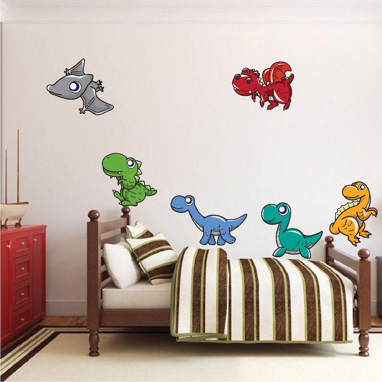 Nursery dinosaur nursery wall decal murals primedecals for Dinosaur wall decals for kids rooms