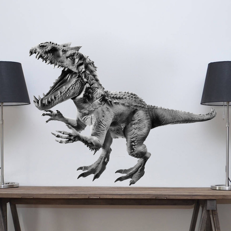 Horned dinosaur decal animals wall decal murals for Dinosaur mural kit