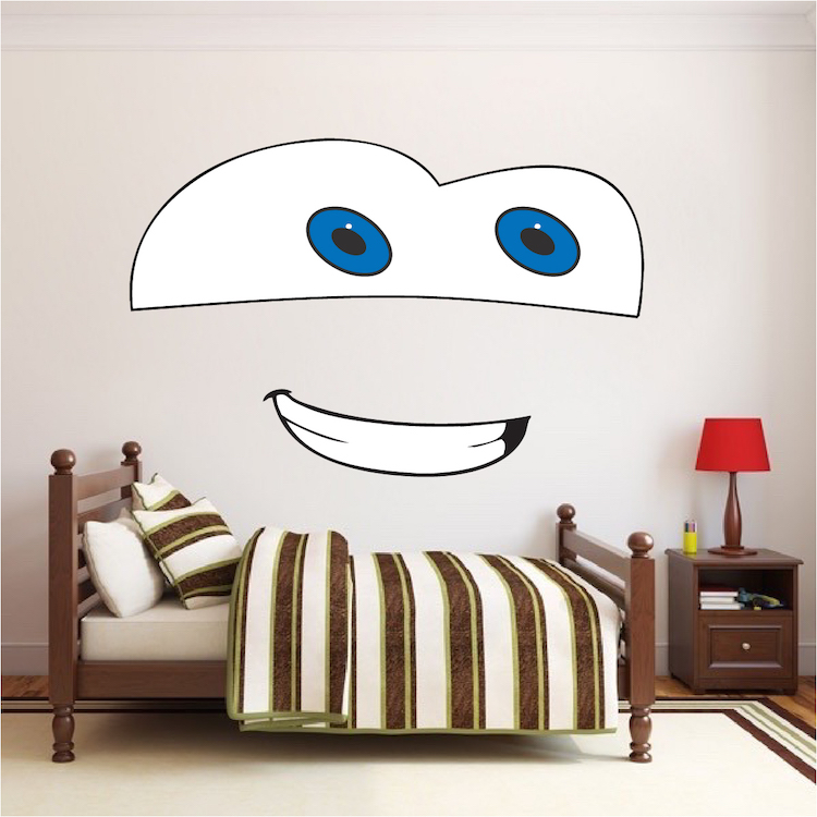 Merveilleux Cartoon Face Bedroom Decor
