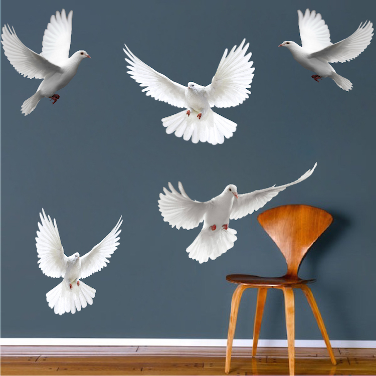 dove birds wall decal murals bird decals primedecals