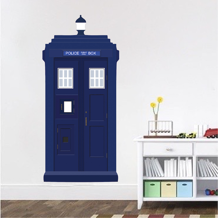 Home U003e Shop Wall Decals U003e Modern U003e Dr. Who Tardis Vinyl Wall Decal Part 18