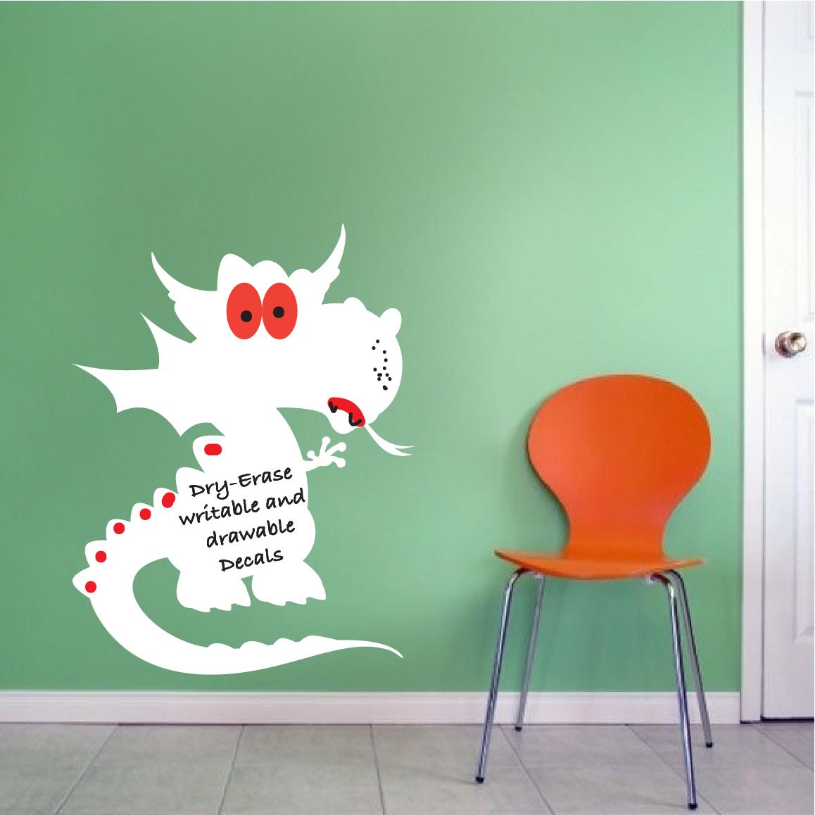 Beau Dry Erase Dragon Wall Decal
