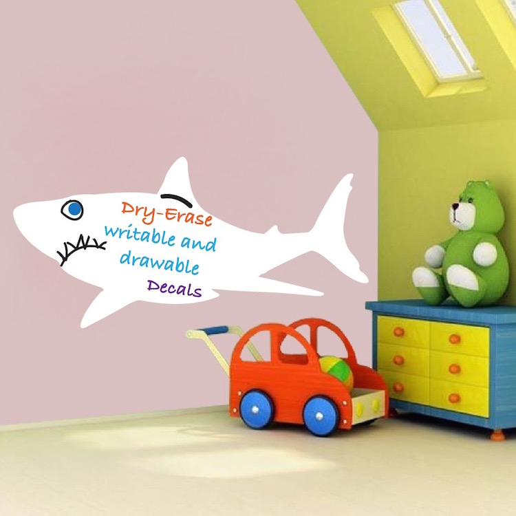 Home U003e Shop Wall Decals U003e All Decals U003e Writable Shark Wall Decal Part 87